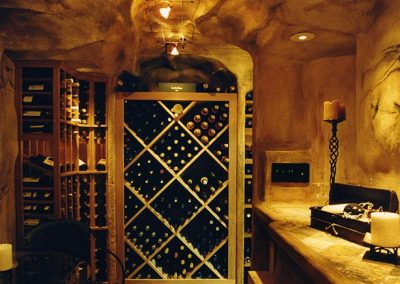 West Coast Wine Cellars Custom Wine Cellar - Limestone Wine Cave Image